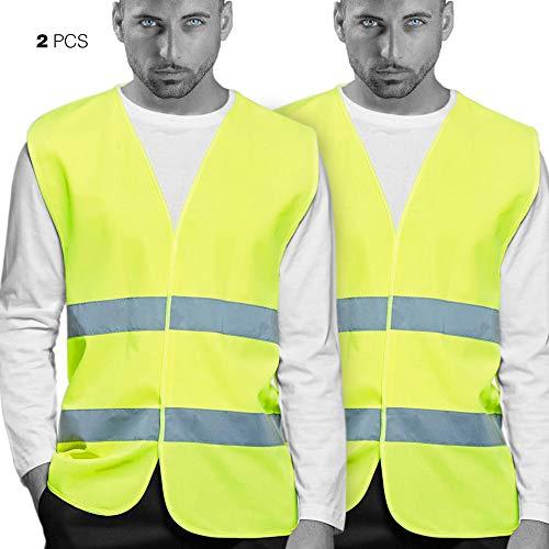 Chalecos de Seguridad amarillo Reflectante. Doble Cinta