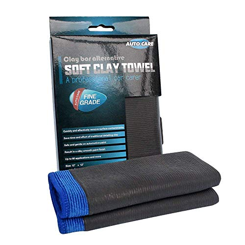 Clay Bar Towel, AutoCare Fine Grade Microfiber Clay Towel Automotive Detailing Towel Clay Bar Alternative for Car Detailing, Creative Gift-Blue, 1 Pack
