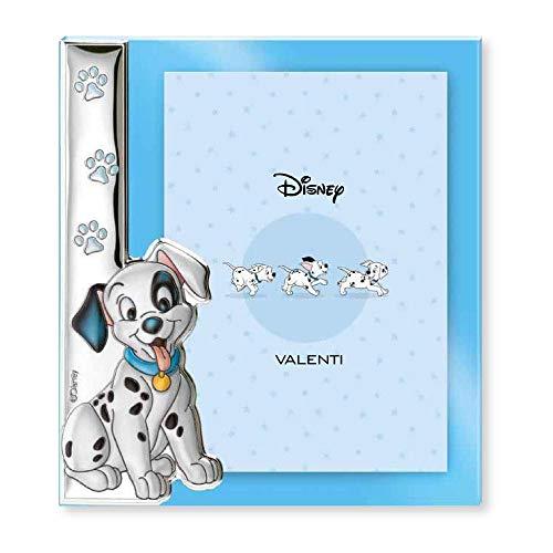 Disney Baby - Bilderrahmen zum Hinstellen - aus Silber - 101 Dalmatiner-Design - ideal für das Kinderzimmer, perfekt als Geschenkidee zur Taufe oder zum Geburtstag- farbiges 3D-Motiv des hunden Lucky