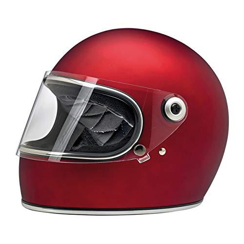Casco Integrale Gringo S Biltwell Rosso Opaco Flat Red OMOLOGATO Doppia OMOLOGAZIONE ECE (Europa) & DOT (America) Helmet Biker Custom Vintage Retrò Anno 70 Taglia XS