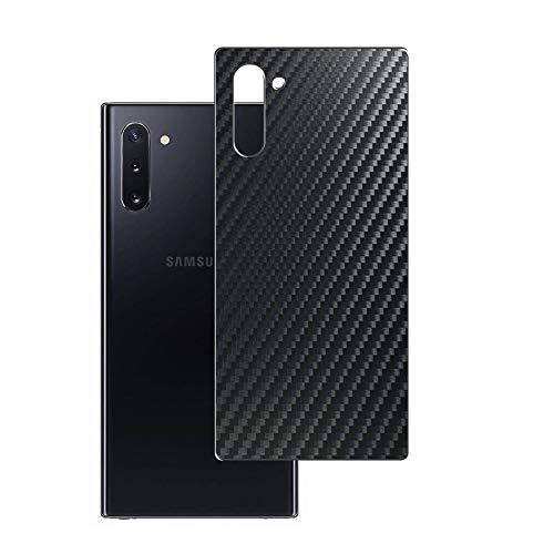 Vaxson 2 Unidades Protector de pantalla Posterior, compatible con Samsung Galaxy Note 10 / Note10 5G SM-N971U N971N N970F, Película Protectora Espalda Skin Cover - Fibra de Carbono Negro
