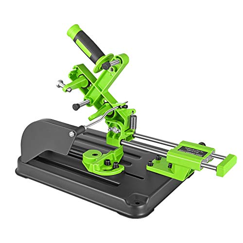 Vogvigo Soporte de amoladora de ángulo, máquina de corte, sierra de mesa, ángulo de la barra de tracción, soporte para amoladora de ángulo de 100, 115 y 125