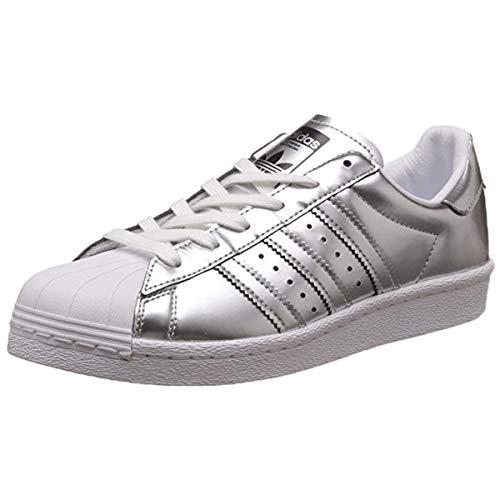 adidas Originals Herren Superstar Sneaker, Silber Metallic Silber Metallic Weiß, 41 1/3 EU