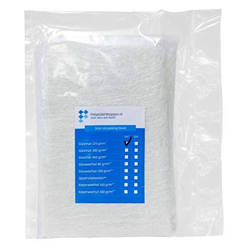 Glasfasermatte/Glasmatte | 1m2 | 225gr/m2 | Verstärkungsmittel für Polyesterharz und Laminierharz, Glass Fabric
