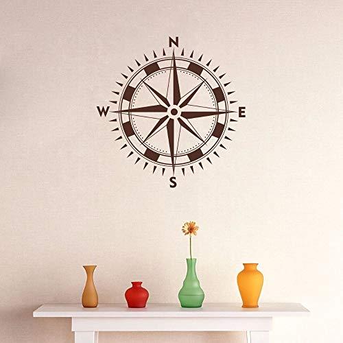 kinderen behang stickers vergeten, kompas patroon vinyl muursticker kompas met logo verwijderbare sticker woonkamer slaapkamer art deco85x85cm
