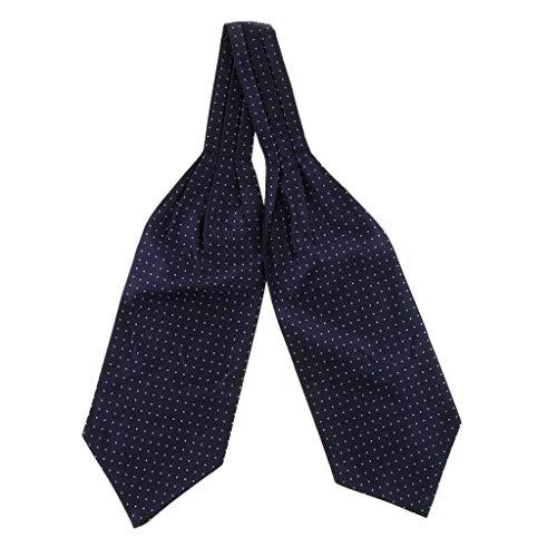 P Prettyia Corbatas Bufandas Jacquard Ascot Paisley Pañuelo de Traje Regalo de San Valentín para Hombres - Azul