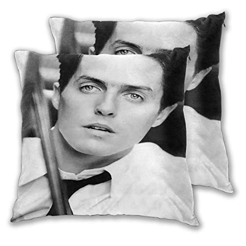 Funda de Almohada Hugh Grant Square Pillow Covers Set of 2, Soft and Cozy Throw Pillow Covers 3D Printed Pillowcase Suitable for Inside and Outside 22