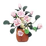 Eamoney 1:12 Miniature:Flower Pot Mini Dollhouses Accessory DIY Dollhouse Dcor Toy House Model Kids Toy