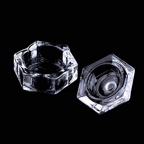 Yibenwanligod transparente Nail Art DIY un Tasse de plats avec couvercle Manucure Outil de coiffure