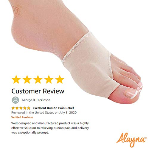 Bunion Corrector and Pain Relief Cushion Sleeve Orthopedic Splint Gel Protector with Non-Slip Grip Insert for...