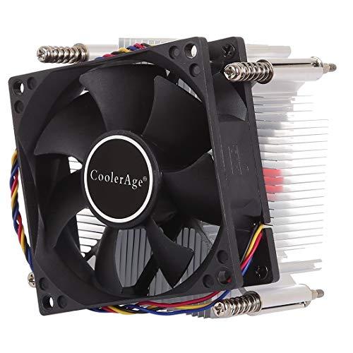 LYYCEU 4pin CPU Cooler Mute silencioso Ventilador de Calor de Ventilador para Intel 1155/1151 / I3 / i5