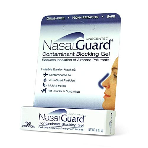 NasalGuard Cold&Flu Gel Year-Round Solution for Blocking Allergens and Cold Flu Symptoms (Unscented) - Drug-Free and Proven Safe - Over 150 Applications Per Tube