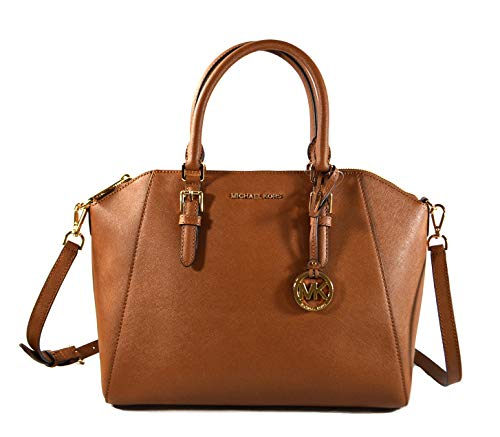 Made of Saffiano leather Removable and adjustable crossbody strap, wear three ways, crossbody, over the shoulder or carry in the crook of the arm Top zip closure to secure your belongings Inside 1 zip pocket and 4 slip pockets, outside 1 back slip po...