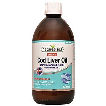 Natures Aid Health Cod Liver Oil Liquid 500ml 500
