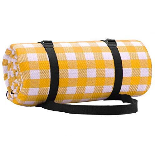 Picnic Blanket Foldable Camping Mat Moisture-Proof Lattice Plaid for Camping Hiking Grass Beaches 200cm*200cm Camping Accessories for Outdoor Camping Picnic