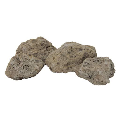 POPETPOP Piedra de Pómez Flotante para Decoración Acuario Tanque de Peces Pecera 10 cm 4PCS