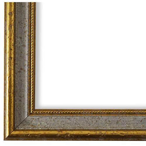 Online Galerie Bingold Bilderrahmen Grau Gold 40 x 60 cm 40x60 - Antik, Barock, Vintage - Alle Größen - handgefertigt - WRF - Livorno