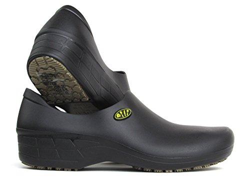 Chef Shoes for Women - Slip Resistant - StickyPro Food Service Kitchen Shoes (9, Black)