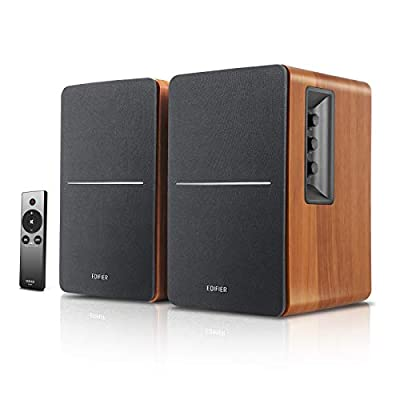 Edifier R1280Ts Powered Bookshelf Speakers - 2.0 Stereo Active Near Field Monitors - Studio Monitor Speaker - 42 Watts RMS with Subwoofer Line Out - Wooden Enclosure from Edifier