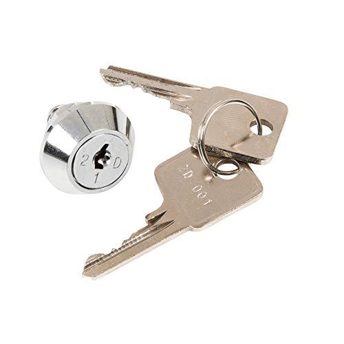 Ersatzteil Schloss mit 2 Schlüsseln für Geldkassette SCC + ECC + OCC + UCD