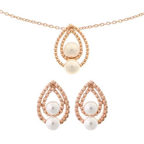 Orphelia Donna 925_argento Placcato in oro rosa Parure di gioielli SET-6033/1