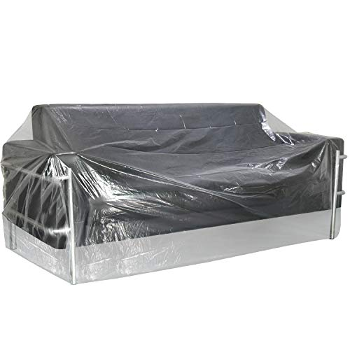 TUPARKA 2 Set Large Furniture Cover 9ft Christmas Tree Poly Storage Bag 110' x 72' with Small Moving bags