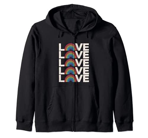 Love Everyone camiseta de bondad arcoíris para mujer casual Sudadera con Capucha