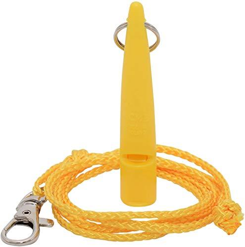 ACME Hundepfeife No. 211,5 + GRATIS Pfeifenband | Original aus England | Ideal für die Hundeausbildung | Robustes Material | Genormte Frequenz | Laut und weitreichend (Yellow)