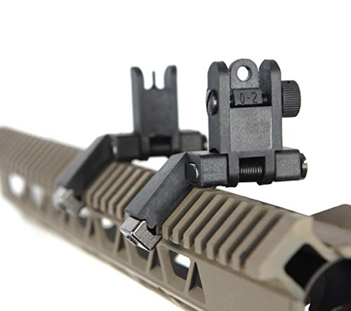 Ultralight Flip Up Sight 45 Degree Offset Rapid Transition Front and Backup Rear Sight