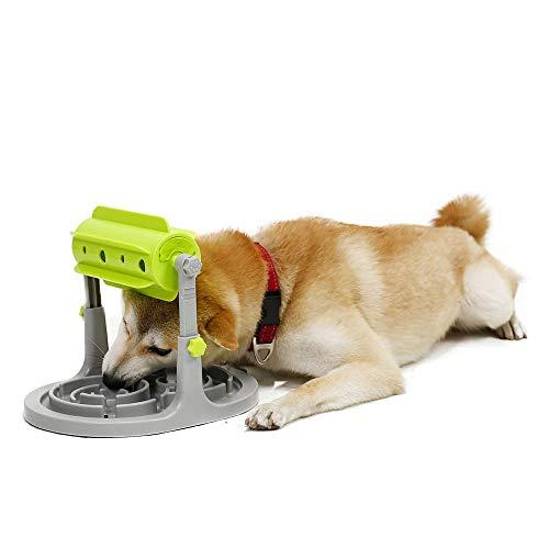 PAWZ Road 2 en 1 juguete para dispensar golosinas para perros con alimentador de rompecabezas, dispensador de golosinas interactivo para ejercicio mental para cachorros perros pequeños medianos