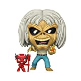 Funko 45981 POP Rocks: Iron Maiden - Number of The Beast (Skeleton Eddie) Collectible Toy, Multicolour -