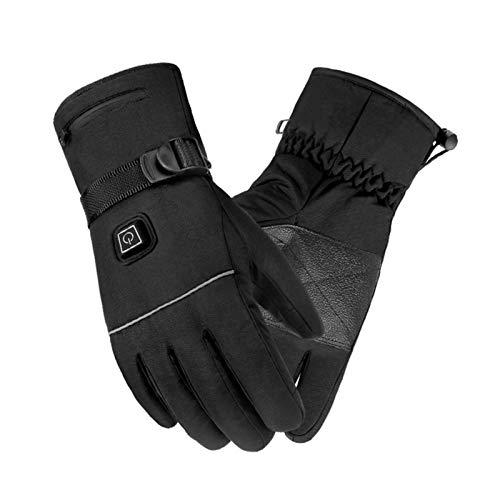 Guantes térmicos para moto, recargables, batería de 4000 mAh, para hombre y mujer, guantes térmicos eléctricos para esquí, pesca, ciclismo, caza