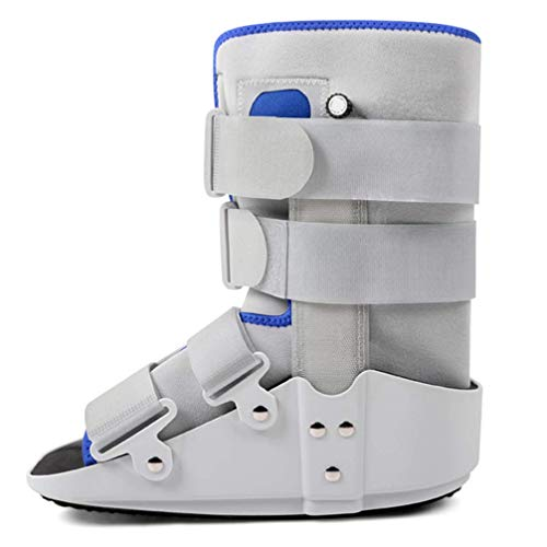 Ankle Braces,Short Fracture Walker Boot with Double Airbag - Ideal For Stable Foot and Ankle Fracture, Achilles Tendon Surgery, Ankle Sprains Walker Brace Foot Orthosis,Gray,M