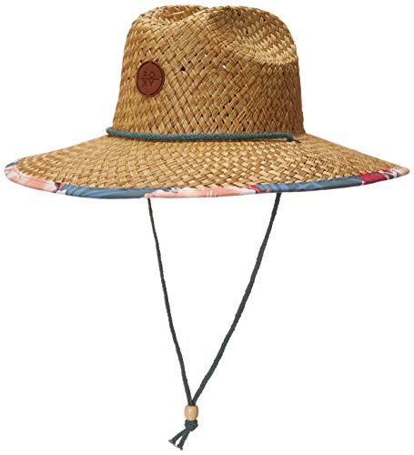 Roxy Junior's Pina to My Colada Straw Sun Hat, North Atlantic Heritage Hawaii, M/L