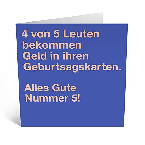 """Central 23 - Lustige Geburtstagskarte – \""""4 von 5 Leuten\"""" - Humorvolle Glückwunschkarte zum Geburtstag für Männer Frauen Ihn Sie - Mit witzigen Aufklebern"""