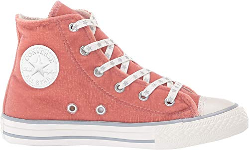 Converse Unisex-Kinder Chuck Taylor CTAS Side Zip Hi Sneakers, Mehrfarbig (Rust Pink/Snow White/Wolf Grey 668), 37 EU