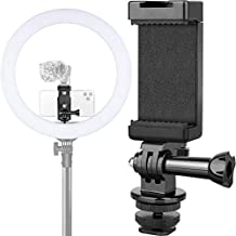Anwenk Phone Holder Hot Shoe Mount Adapter with Cold Shoe Mount for Microphone/Flash Light Compatible with Gopro Hero DJI Osmo Action Camera Smartphone, Attach on DSLR Camera/Ring Light/Tripod