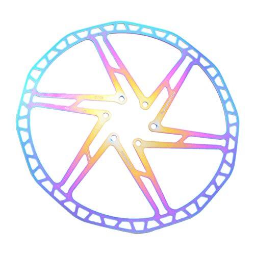 6SlonHy Robuste Fouriers 140/160/180 / 203mm MTB Rennrad Fahrrad Bremsscheibe Schwimmende Rotoren Mehrfarbig 203mm