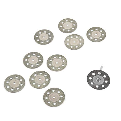 Hojas de sierra circular, 10 hojas de sierra circular de diamante de 8 agujeros, discos de rueda de corte adecuados para carpintería y manualidades con 2 mandriles