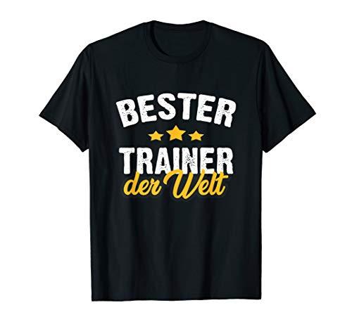 Bester Trainer Coach Übungsleiter Der Welt Team Geschenk T-Shirt