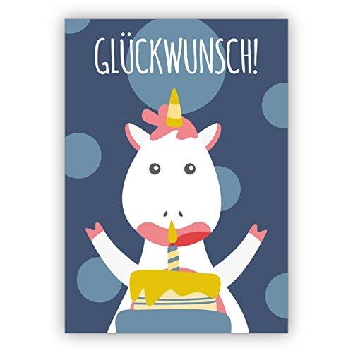 10 Grußkarten Die ultimative Einhorn Geburtstagskarte - nicht nur für Kinder, blau: Glückwunsch! • hübsche Grusskarten fürs Geburtstags-kind mit Umschlägen geschäftlich & privat