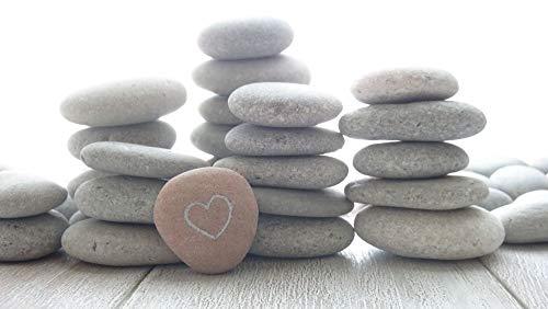 DIY Art Studio Set 25 Stück Seekies ~ 1 kg Steine, Verschiedene Formen Steine, 3-5 cm kleine Meereskiesel