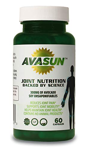 AvaSun, Joint Nutrition Backed by Science, Avocado Soy Unsaponifiable, 300Mg, 60 Day Supply