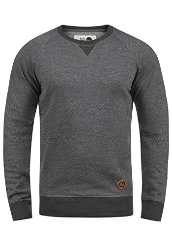 !Solid VituNeck Herren Sweatshirt Pullover Pulli Mit Rundhalsausschnitt, Größe:L, Farbe:Grey Melange (8236)