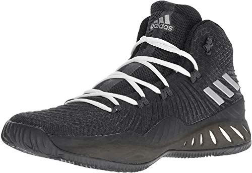adidas Men's Crazy Explosive 2017 Basketball Shoe Black/Silver/Grey Size 9 M US