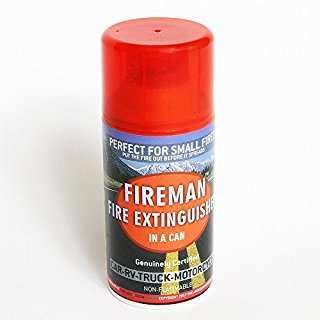 Fireman in a Can - Mini Fire Extinguisher for Home, Kitchen, Automobile, RV | Safe Way to Put Out Oil, Grease, Wood, Electric, Gasoline Fires