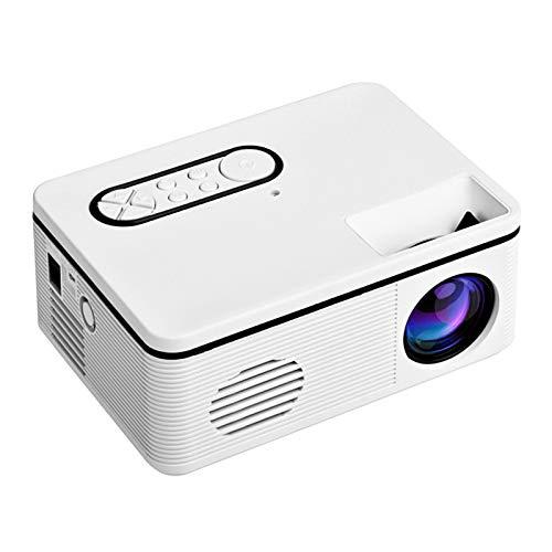 JVSISM 1080P Proiettore HD Proiettore Portatile Proiettore A LED A Luce per Home Theater per Ufficio (Spina Europea)
