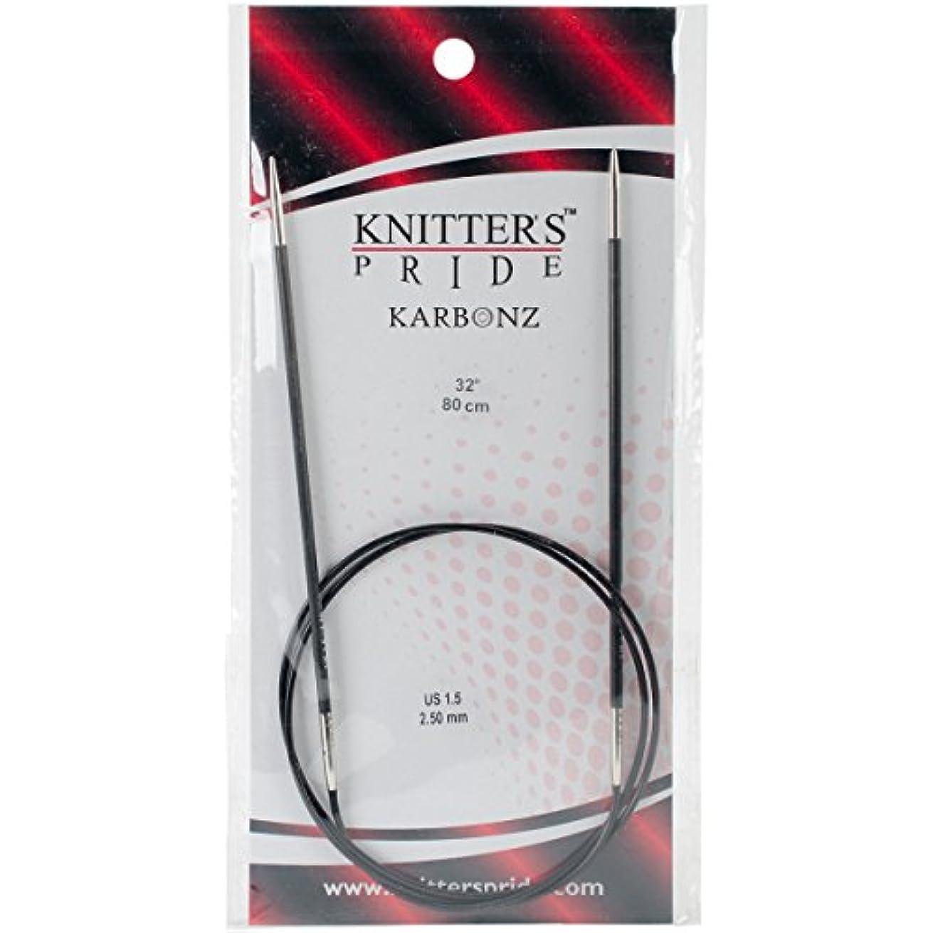 Knitter's Pride Karbonz Circular 32-inch (80cm) Knitting Needles; Size US 1.5 (2.50mm) 110223