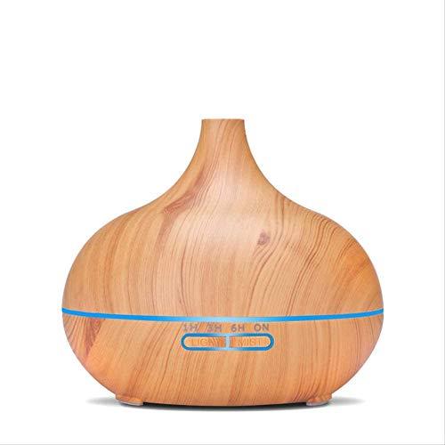 ZHUYUE Luchtbevochtiger Wood Grain Aroma Diffuser Huishoudelijke Ultrasonic Kleurrijke Wood Grain Nozzle luchtbevochtiger Afstandsbediening Geel Sharp Mond