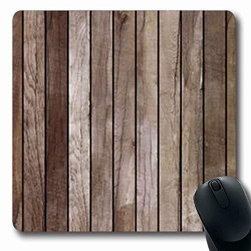 Gsgdae Mauspad Nuss Naturholz Holz Poliert Natur Braun Parkett Muster Boden Detail länglich 20 x 24 cm rechteckig Gaming Mauspad Anti-Rutsch Mauspad